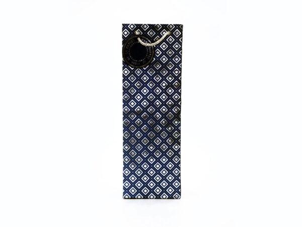 dimaond design wine bags blue1 1