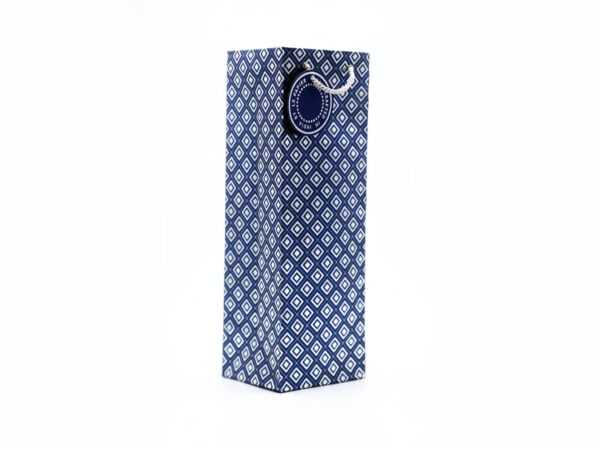dimaond design wine bags blue2 1