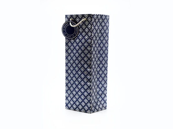 dimaond design wine bags blue3 1