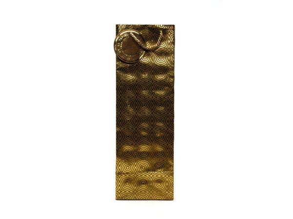 hexagon wine bag gold1 1