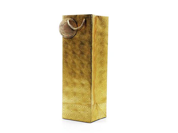 hexagon wine bag gold2 1