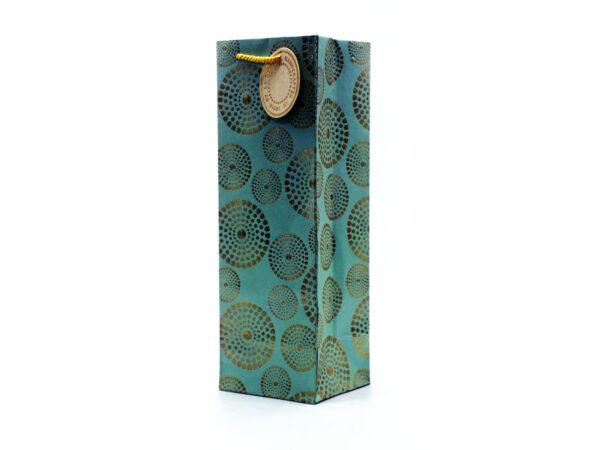 sudarshana chakra wine bag seagreen2 1