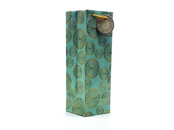 sudarshana chakra wine bag seagreen3 1